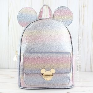 Pastel Rainbow Glitter Mickey Mouse Backpack